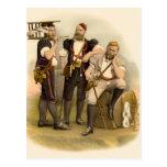 Tres ganaderos/queseros alpinos de Gruyeres Postales