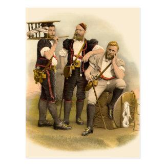Tres ganaderos/queseros alpinos de Gruyeres Postal