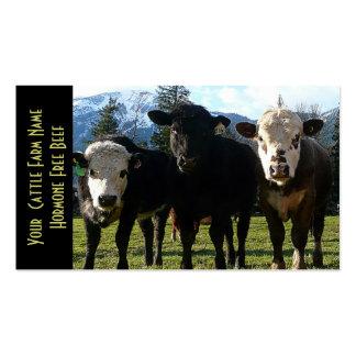 Tres ganados vacunos de los amigos tarjetas de visita