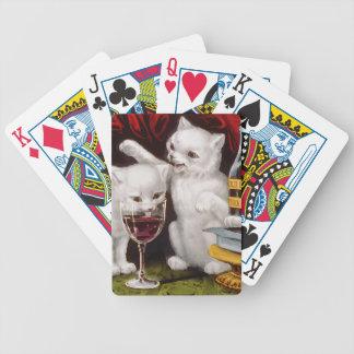 Tres gatitos alegres baraja de cartas