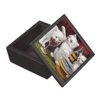 Tres gatitos alegres caja de regalo de calidad