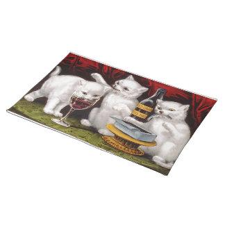 Tres gatitos alegres mantel individual