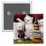 Tres gatitos alegres pin