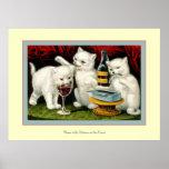Tres gatitos alegres posters