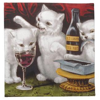 Tres gatitos alegres servilletas
