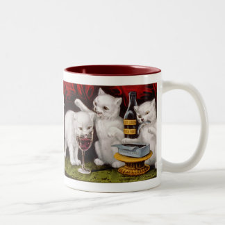 Tres gatitos alegres taza