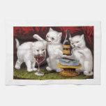 Tres gatitos alegres toallas de cocina