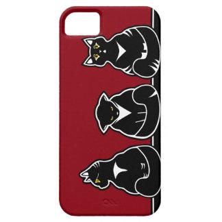 Tres gatitos no tan amistosos funda para iPhone SE/5/5s
