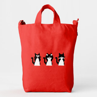 Tres gatitos sabios bolsa de lona duck
