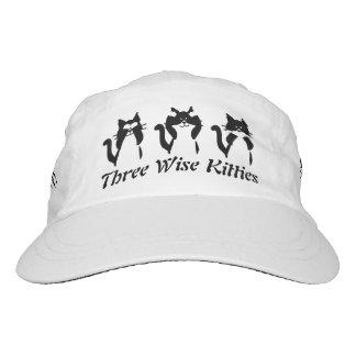 Tres gatitos sabios gorra de alto rendimiento