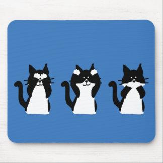 Tres gatitos sabios tapete de ratón