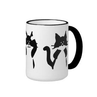 Tres gatitos sabios taza de dos colores