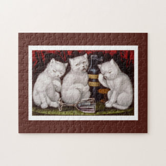 Tres gatos blancos después del banquete, del curti rompecabeza