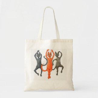 Tres gatos de baile bolsa tela barata