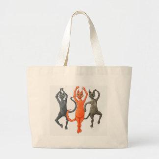 Tres gatos de baile bolsa tela grande