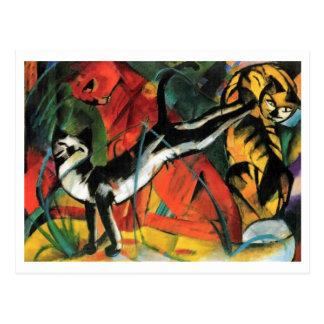Tres gatos de Franz Marc Postal