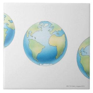 Tres globos tejas