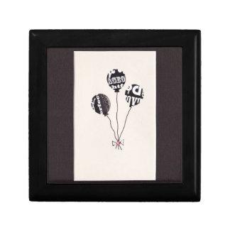 Tres globos caja de recuerdo