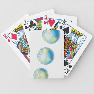Tres globos baraja de cartas