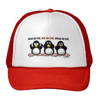 Tres gorras sabios de los pingüinos