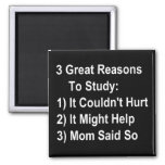 Tres grandes razones para estudiar (versión de la  imanes para frigoríficos
