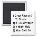 Tres grandes razones para estudiar (versión de la  imanes