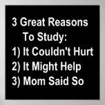 Tres grandes razones para estudiar (versión de la  posters