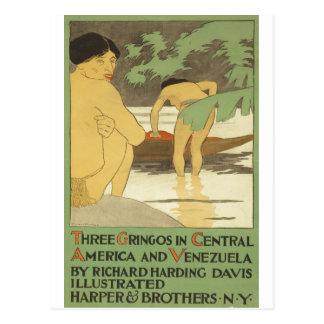 Tres gringos en America Central y Venezuela 1898 Tarjetas Postales