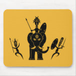 Tres guerreros africanos alfombrilla de ratones