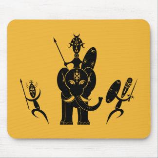Tres guerreros africanos mousepad