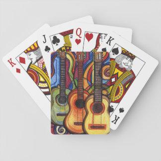 Tres guitarras baraja de póquer