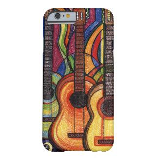 Tres guitarras funda de iPhone 6 barely there