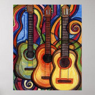 Tres guitarras impresiones