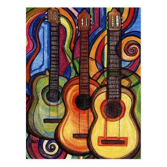Tres guitarras postal