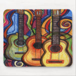 Tres guitarras tapete de raton
