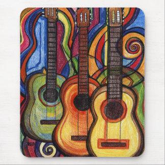 Tres guitarras alfombrilla de ratón