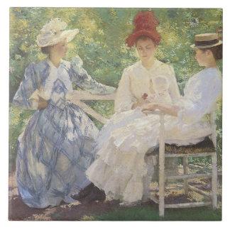 Tres hermanas - baldosa cerámica azulejo ceramica