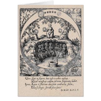 Tres hermanas de alquimia tarjeta de felicitación