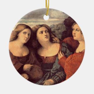 Tres hermanas por el ornamento de Palma il Vecchio Adorno Para Reyes