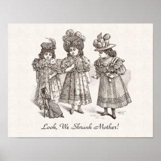 Tres hermanas traviesas - mire, nosotros madre enc póster