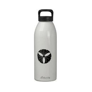 Tres hojas del ginkgo botella de agua reutilizable