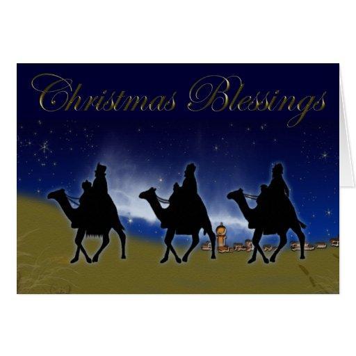 Tres hombres sabios de la tarjeta de Navidad de Or