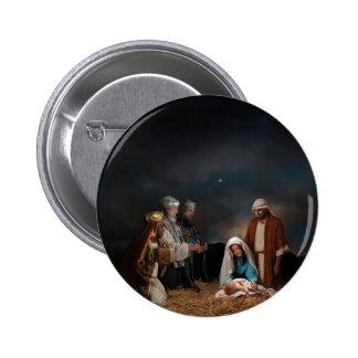 Tres hombres sabios en la natividad pin redondo de 2 pulgadas