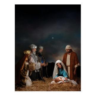 Tres hombres sabios en la natividad tarjetas postales