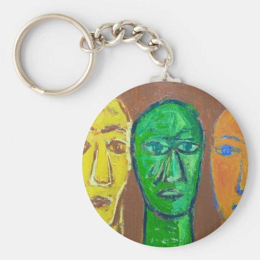 Tres hombres sabios (expresionismo del retrato) llavero personalizado