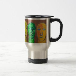 Tres hombres sabios (expresionismo del retrato) taza térmica