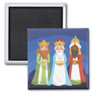 Tres hombres sabios imán cuadrado