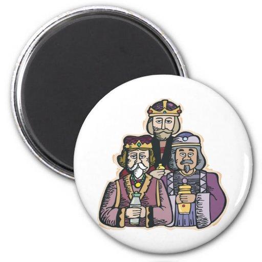Tres hombres sabios imán de frigorifico