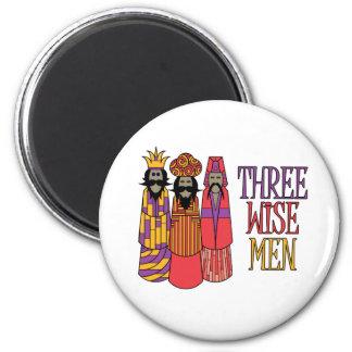 Tres hombres sabios imán redondo 5 cm