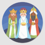 Tres hombres sabios pegatina redonda
